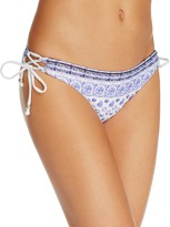 Shoshanna Batik Print Side Laced Bikini Bottom
