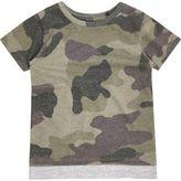 River Island Mini boys khaki camo contrast hem T-shirt