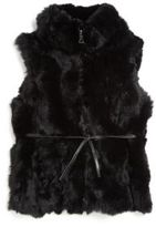 Adrienne Landau Toddler's & Little Girl's Rex Rabbit Fur Vest