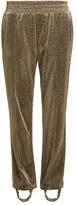 Golden Goose Deluxe Brand Dele straight-leg stirrup-hem lamé track pants
