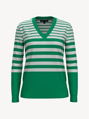 Tommy Hilfiger Essential Stripe V-Neck Sweater