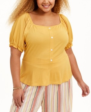 Full Circle Trends Trendy Plus Size Smocked Top