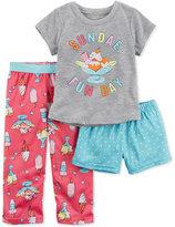Carter's 3-Pc. Sundae Fun Day Pajama Set, Toddler Girls (2T-4T)