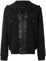 Frankie Morello oversized zip fastening hoodie