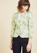 ModCloth Snappy Studies Blazer in Bouquets in S