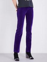 Marc Jacobs Straight high-rise velvet trousers