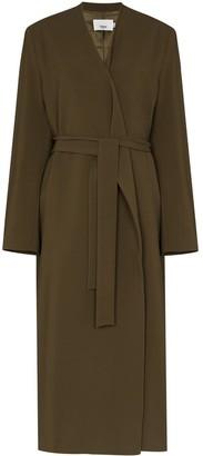 Frankie Shop Collarless Tied Waist Coat