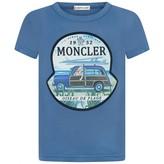 Moncler MonclerBoys Blue Beach Print Top