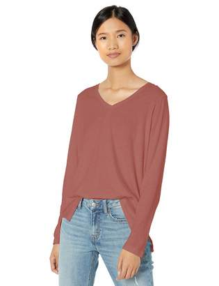 Goodthreads Amazon Brand Women's Washed Jersey Cotton Long-Sleeve V-Neck T-Shirt
