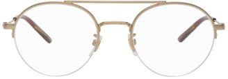 Gucci Gold Semi-Rimless Glasses