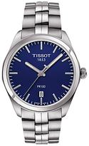 Tissot T1014101104100 Pr 100 Date Bracelet Strap Watch, Silver/navy
