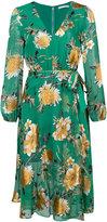 Alice + Olivia Alice+Olivia - floral print tie waist dress - women - Silk/Polyester/Spandex/Elastane/Viscose - 0