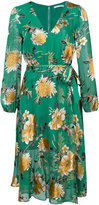 Alice + Olivia Alice+Olivia - floral print tie waist dress - women - Silk/Polyester/Spandex/Elastane/Viscose - 4