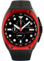 Avio Men's SA BK 2001 Super Tonneau Black PVD Steel Case Aluminum Interchangeable Bezel Luminous Chrono Tachymeter Watch