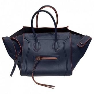 Celine Luggage Phantom Navy Leather Handbags
