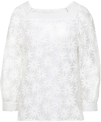 Claudie Pierlot Embroidered Gauze Blouse
