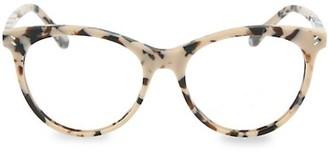 Stella McCartney 52MM Tortoise Cat Eye Blue Light Core Reading Glasses