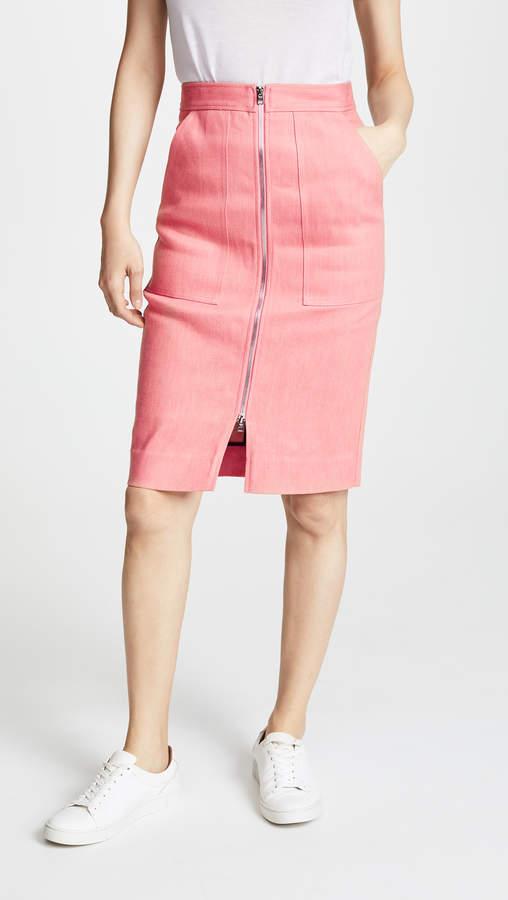 Diane von Furstenberg Zip Up Skirt