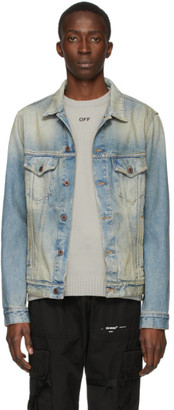 Off-White Blue Denim Airport Tape Jacket