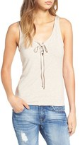 BP Women's Lace-Up Ribbed Tank