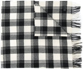 Saint Laurent check fringed scarf