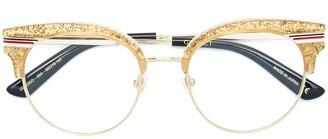 Gucci glitter Web wayfarer lenses