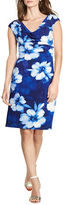 Lauren Ralph Lauren Floral Cowlneck Sheath Dress