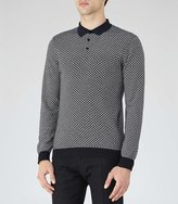 Reiss Cosmic Contrast Weave Polo Shirt