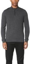 The Kooples Sport Leather Detail Half Zip Sweater