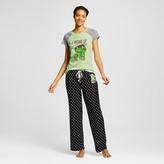 Sesame Street Women's Oscar I Woke Up This Way Tee/Pant Pajama Set