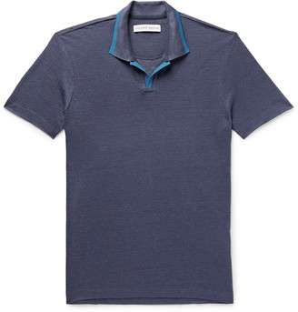 Orlebar Brown Felix Slim-Fit Contrast-Tipped Linen-Pique Polo Shirt