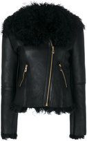 Versace shearling biker jacket