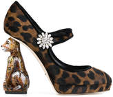 Dolce & Gabbana Mary Jane tiger heel pumps