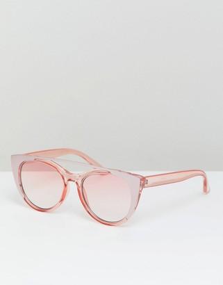 cat eye sunglasses in pink