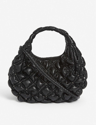 Valentino Waffle small quilted leather hobo bag
