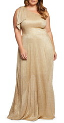 Dress the Population Savannah One-Shoulder Gown