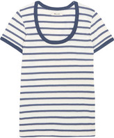 Madewell Grayson Striped Cotton-jersey T-shirt - Blue