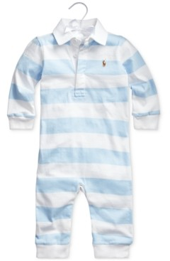 Polo Ralph Lauren Ralph Lauren Baby Boys Rugby Jersey Coverall One Piece Coverall