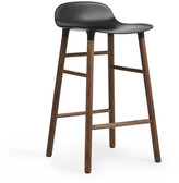 Normann Copenhagen Form Barstool H65cm Black/Walnut
