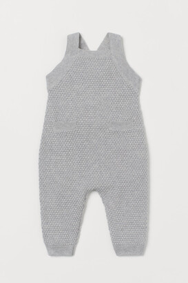 H&M Knit Overalls - Gray