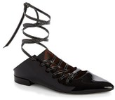 Givenchy Women's Show Lace-Up Ballet Flat