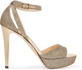 Jimmy Choo Kayden glittered leather sandals