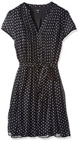 MSK Women's Polka Dot Woven Pintuck Shirtdress