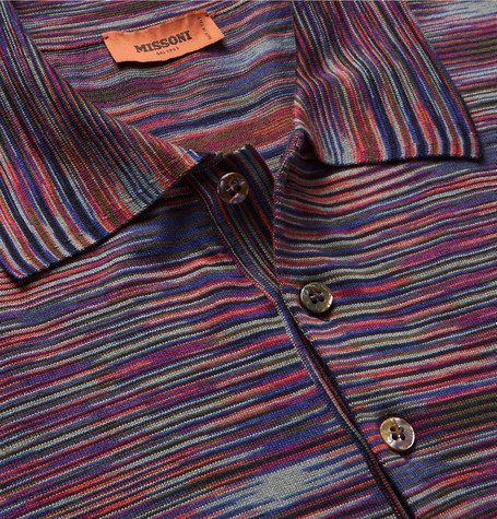 Missoni Slim-Fit Space-Dyed Cotton-Jersey Polo Shirt
