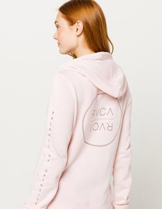 RVCA Century Pink Womens Hoodie