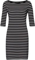 French Connection Tim Tim Striped Jersey Dress