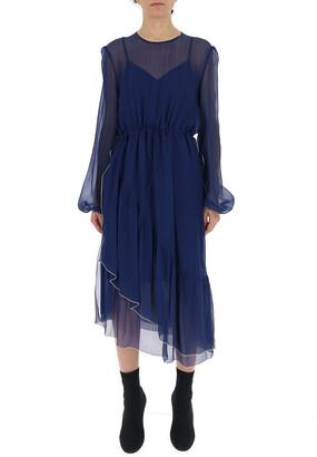 See by Chloe Chiffon Midi Dress