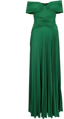 Elisabetta Franchi Celyn B. Long Jersey Lame Dress