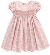 Luli & Me Infant Girl's Floral Print Smocked Dress