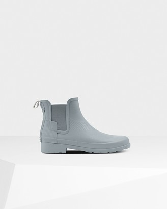 Hunter Women's Refined Slim Fit Wave Texture Chelsea Boots